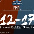 【MLL】2017年シーズンの優勝はOhio Machine