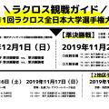 ラクロス3大大会観戦ガイド|2019年全日本ラクロス大学選手権大会